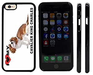 Rikki KnightTM I Love My Brown Cavalier King Charles Puppy Dog Design Case For Iphone 5/5S Cover (Black Hard with front bumper protection) Case For Iphone 5/5S Cover