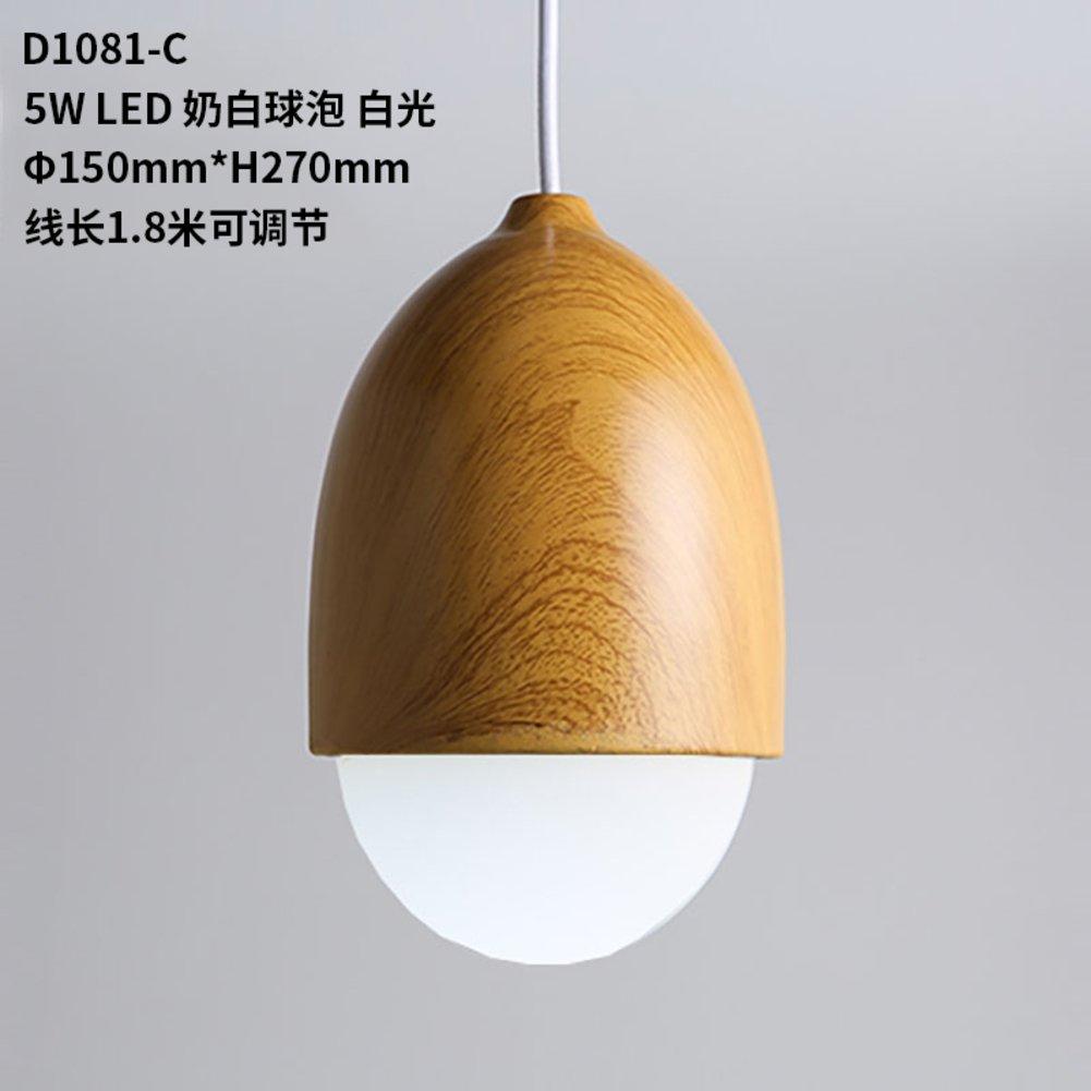 Nordisch Lampe 1 leuchte Woodgrain mutter kronleuchter Beleuchtung oben montiert hängend Restaurant kronleuchter Led kronleuchter Schlafzimmer [kinderzimmer]-D 25x23cm(10x9inch) MIDJHINHDVBCGFDVBCHY