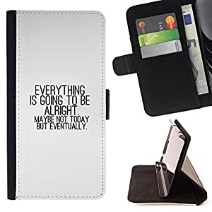 KingStore / Leather Etui en cuir / Sony Xperia Z3 Compact / TODO VA A ESTAR BIEN