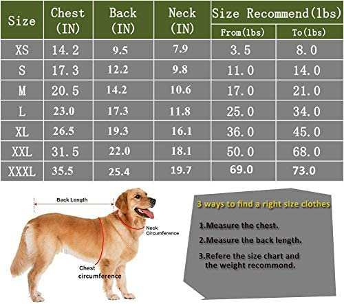 Uvoguepaw - Camisas para perros pequeños, medianos y grandes, talla XS 7
