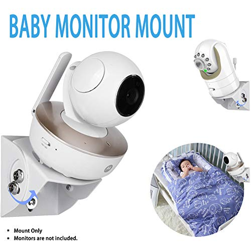 Buy Bargain Universal Adjustable Angle Wall Mount Shelf for Baby Monitor Camera, Angle Mounting Brac...