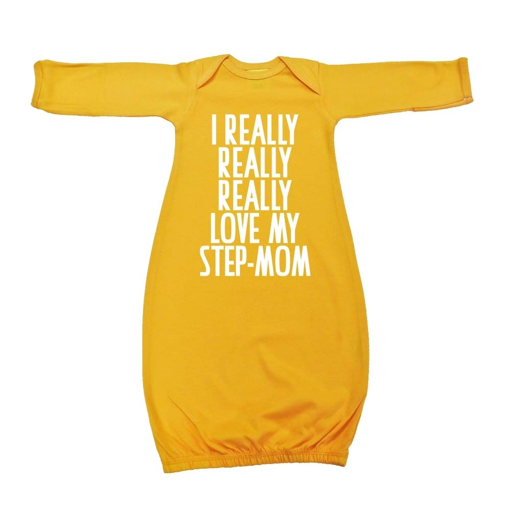 Baby Cotton Sleeper Gown I Really Really Really Love My Step-Mom