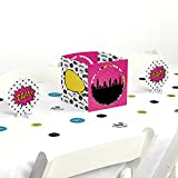 BAM! Girl Superhero - Baby Shower or Birthday Party Centerpiece & Table Decoration Kit