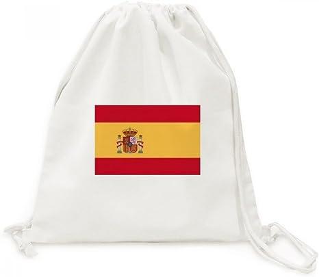 DIYthinker Viajes España Europa la Bandera Nacional de País de la Lona del morral del Lazo Bolsas de la Compra: Amazon.es: Deportes y aire libre
