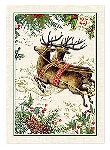 Michel Design Works Cotton Kitchen Dish Towel, Christmas Joy