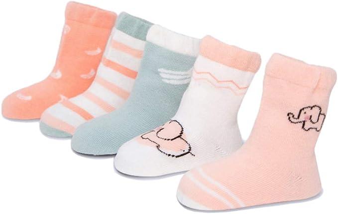 Z-Chen Pack de 5 pares de Calcetines Algodón Niños Niñas: Amazon.es: Ropa y accesorios