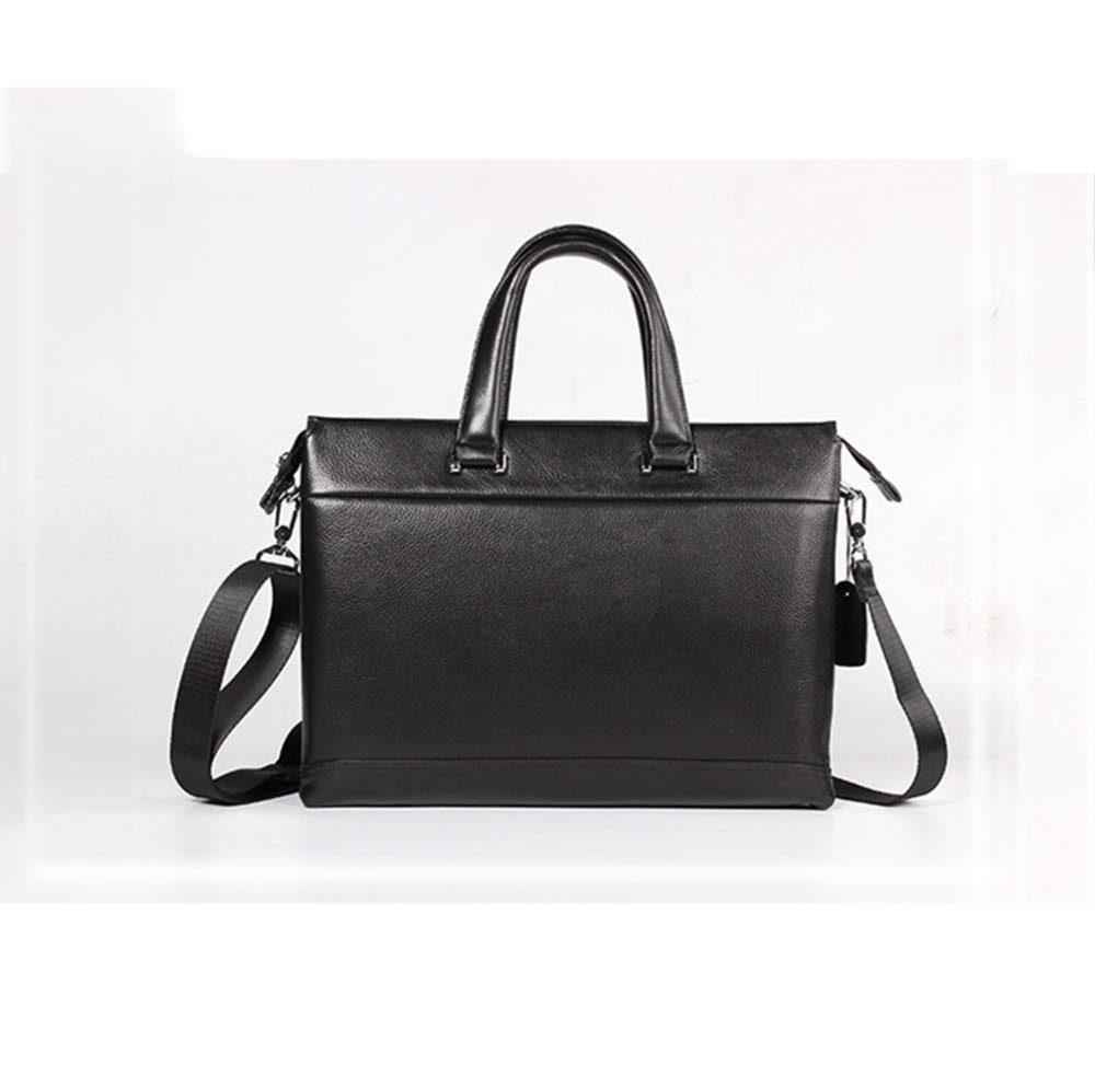 ZhiGe Briefcase,Mens Business Tote Cross-Section Square Leather Briefcase