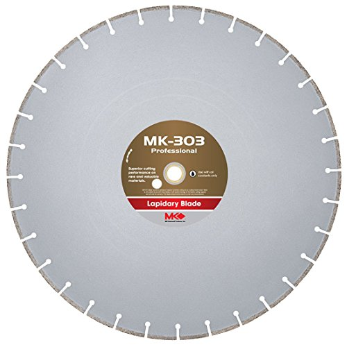 (MK Diamond 156729 MK303 Wet Cutting Lapidary Diamond Blade, 18-Inch)