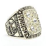 Budazo Tide Men's Diamond Gemstone 1978 Steel Championship Rings,Size 8