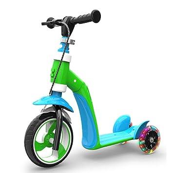 ZTXY Patinete Infantil para niños, Bicicleta multifunción, Altura ...