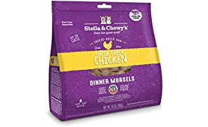 Stella & Chewy's Freeze-Dried Raw Chick, Chick, Chicken Dinner Morsels Cat Food, 18 oz. Bag, Freeze-Dried Raw Cat Dinner Morsels
