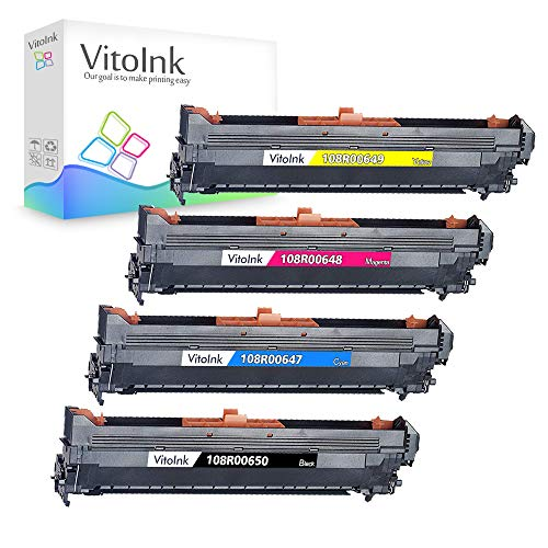 (VitoInk Drum Unit Replacement for Xerox Phaser Imaging Unit,for use in 7400 Series Printer,108R00650;108R00647;108R00648;108R00649 4Pack(1 Black 1 Cyan 1 Magenta 1 Yellow))