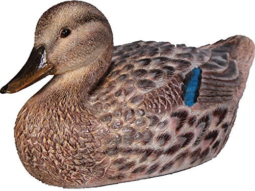 "Mallard Duck House (16.5""L Female Mallard Duck Figure – Natural Finish)"