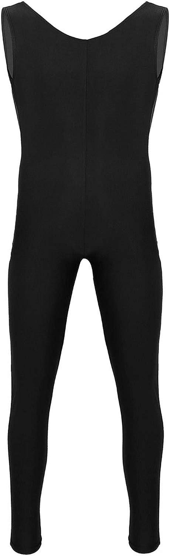 vastwit Mens Lycra Spandex Scoop Neck Tank Unitards Bodysuits Catsuit Ballet Dance Dancewear