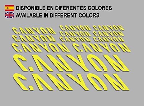 Ecoshirt T2-JSQO-76PM Stickers Canyon F157 Vinyl Adesivi Decal Aufkleber Кλосс MTB Stickers Bike, Yellow