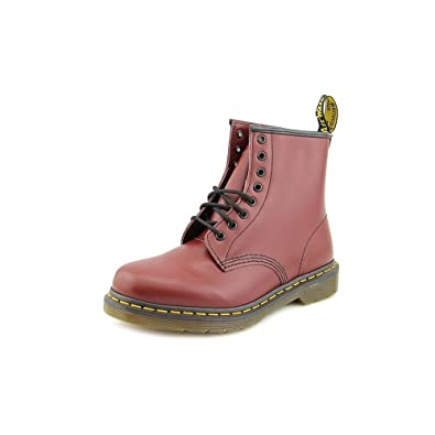 da8edebb4 Amazon.com | Dr. Martens Unisex 1460 8 Eyelet Smooth Leather Lace-Up Boot  Cherry Red-Red-6 | Ankle & Bootie