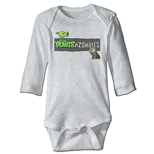 Baby Child 100% Cotton Long Sleeve Onesies Toddler Bodysuit Plants Vs. Zombies Baby Clothes - Long Funny Sleeve Zombies