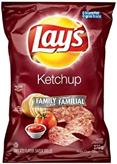 product image for Canadian Lays Ketchup Flavour Chips [5 Large Bags] by Lay's