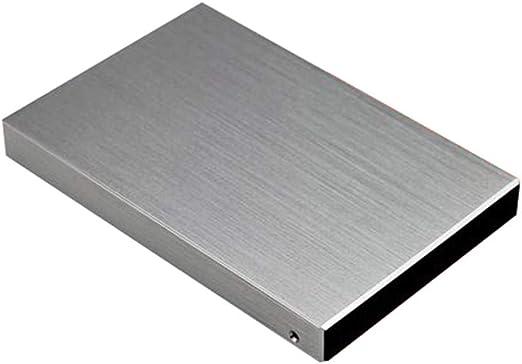 giokfine 2TB 外付けハードドライブポータブルHDD – USB 3.0 PC ノートパソコン Mac USB 3.0 高速読み取りポータブル500GBハードドライブノートブックデスクトップ M シルバー giokfine