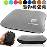 Inflatable Compact Camping Backpacking Pillow – Ultralight Portable Outdoor Blow Up Air Pillow – Best Lightweight Neck Support Pillow for Camp Travel Hiking (Black, Blue, Gray, Dark Green)