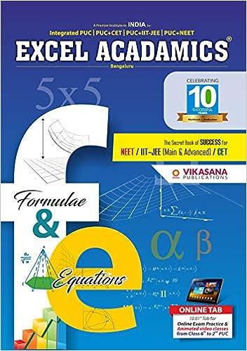 Buy Formula Book Pcm Formulas Of 2 Years Pcm Formulas For Puc Cet Neet Iit Jee Book Online At Low Prices In India Formula Book Pcm Formulas Of 2 Years Pcm Formulas