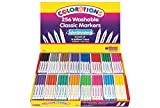 Colorations 98256 Washable Classic Markers Classroom Pack (Pack of 256)