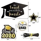 Konsait Black Gold Graduation Centerpiece