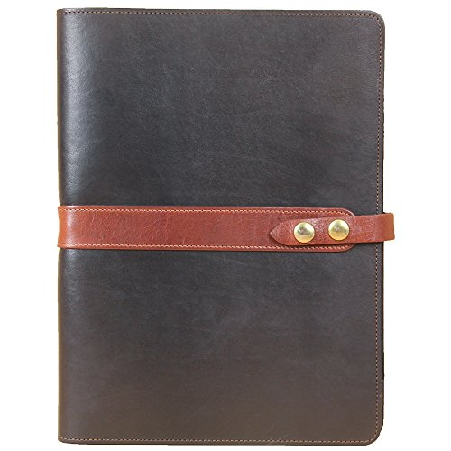 Leather Business Portfolio Notebook Folio Writing Pad Black Brown No. 18 USA by Col. Littleton