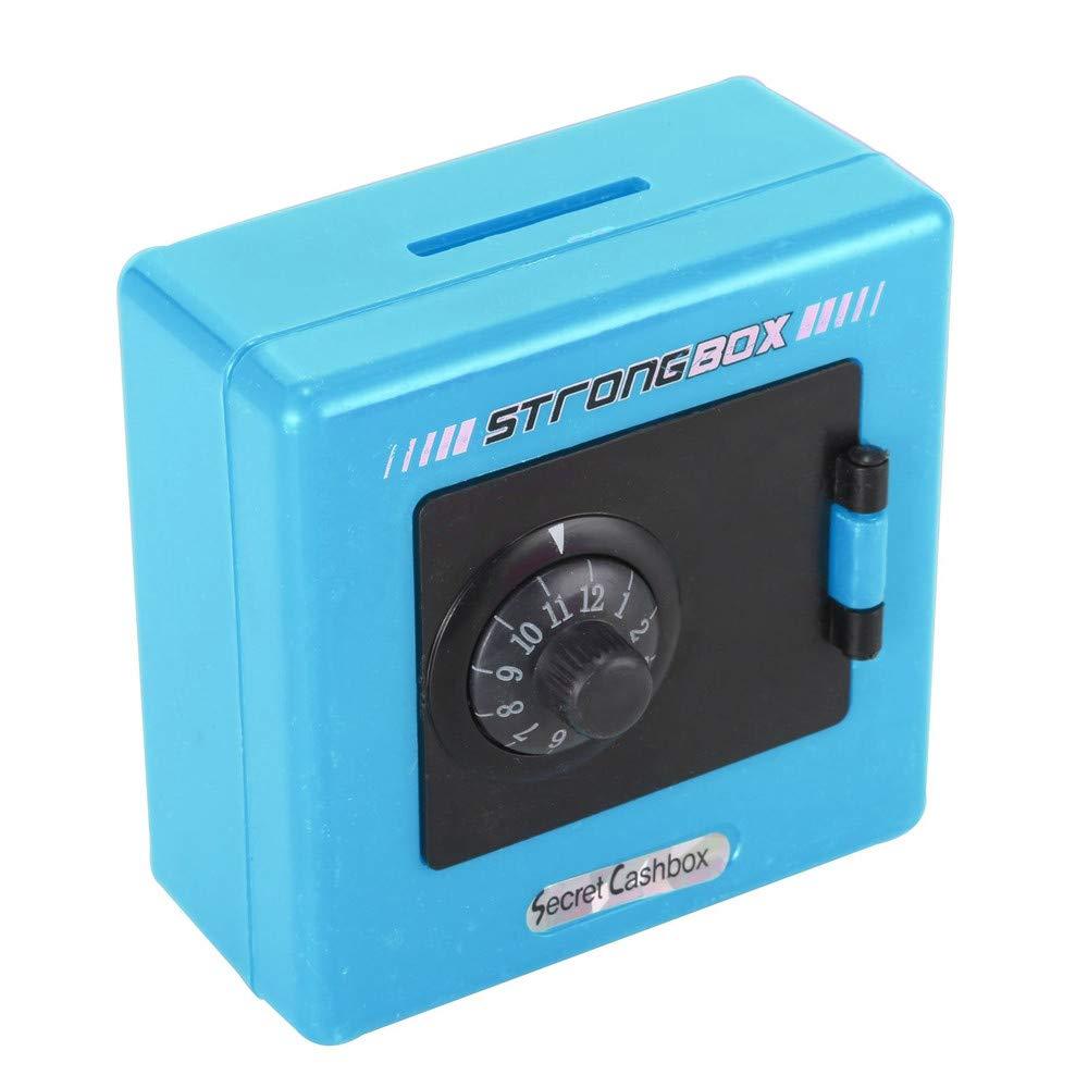 Lucoo Coin Bank ,Combination Lock Money Coin Saving Storage Box Code Cash Safe Case Piggy Bank (Blue)