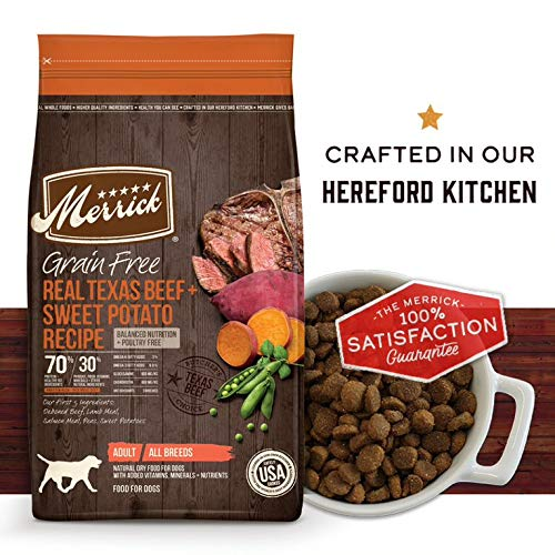 Merrick Grain Free Real Texas Beef + Sweet Potato Dry Dog Food Recipe
