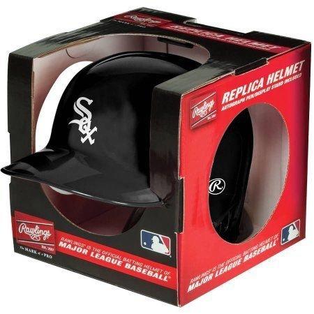 Chicago White Sox Rawlings Mini Baseball Batting Helmet - with display - Baseball Helmet Mini Sox