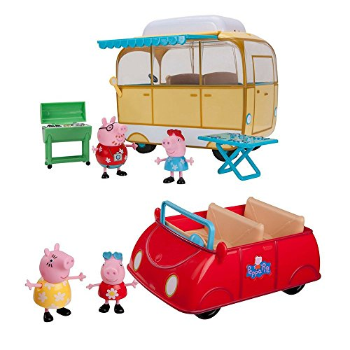2 LOT Pepa Pig's Bundle: 2 LOT Pepa Pig Bundle: Peppa Pig's Red Car and Peppa Pig Family Campervan and Peppa Pig's Red Car (Danny Castle Halloween)