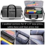 Luxja All-in One Bag for Cricut Die-Cut Machine and Cricut Easy Press (9 x 9 inches), Carrying Case for Cricut Machine and Supplies, Compatible with Cricut Explore Air and Maker (Patent Pending), Gray