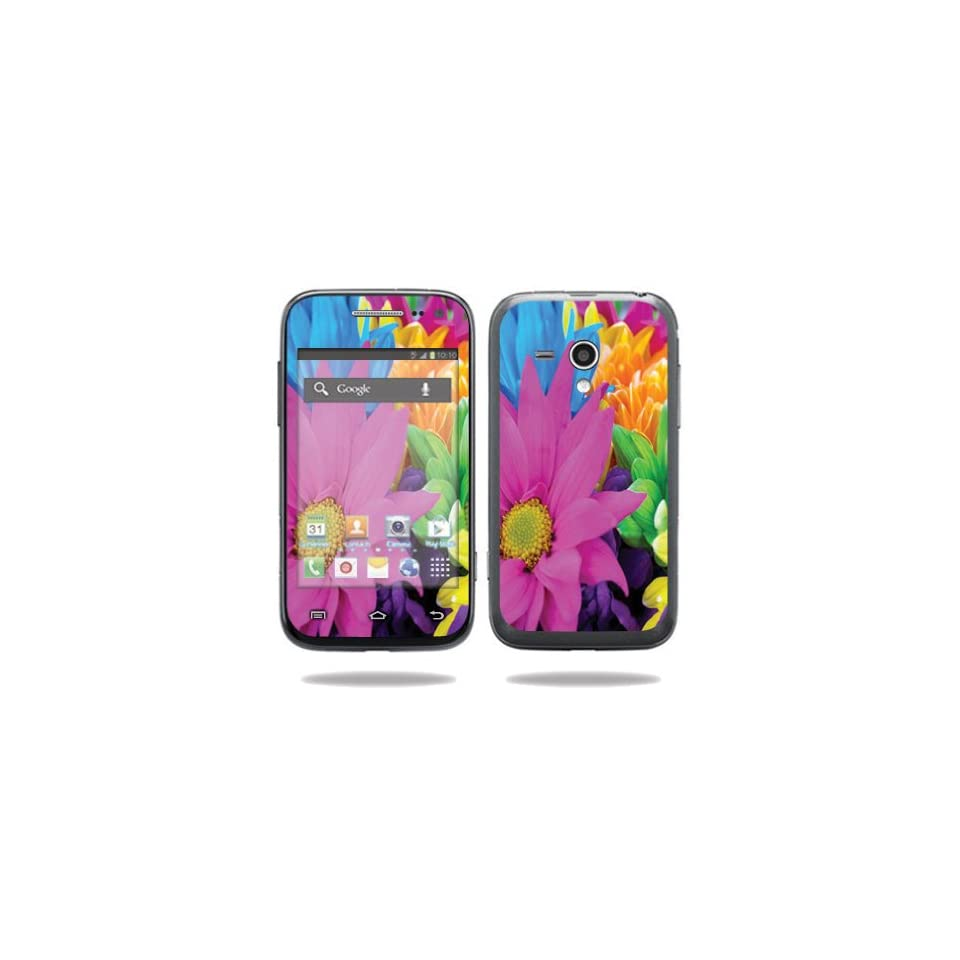 MightySkins Protective Vinyl Skin Decal Cover for Samsung Galaxy Rush Cell Phone M830 Boost Mobile Sticker Skins Colorful Flowers Computers & Accessories