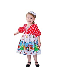 Toddler Kids Baby Girls Christmas Dress Outfits Clothes Cartoon Princess Party Skirt