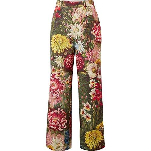 相手血統余裕がある(グッチ) Gucci レディース ボトムス?パンツ クロップド Floral-print wool and mohair-blend wide-leg pants [並行輸入品]