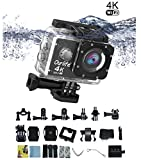 Sports Camera Ourlife Waterproof IP68 Action Camera 100 Feet Underwater Camera WIFI 4K 170° Angle 16MP 30fps 2 Inch Screen Camcorder with Mounting Kit