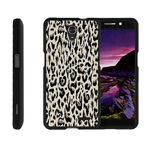 TurtleArmor | Compatible for ZTE Avid Plus Case | ZTE Avid Trio | ZTE ZFive 2 [Slim Duo] Slim Snap On 2 Piece Hard Cover Protector Case Girl Designs on Black - Fainted Leopard Print