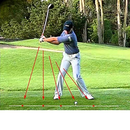 (melia Golf Swing Corrector Laser Plane Trainer Golf Swing-Plane Training Aid Golf Pointer Laser Spot Direction)