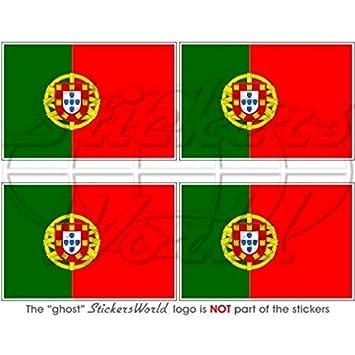 """Portugal Bandera de Portugal República Portuguesa 2 """"(50 mm) bumper-helmet"""