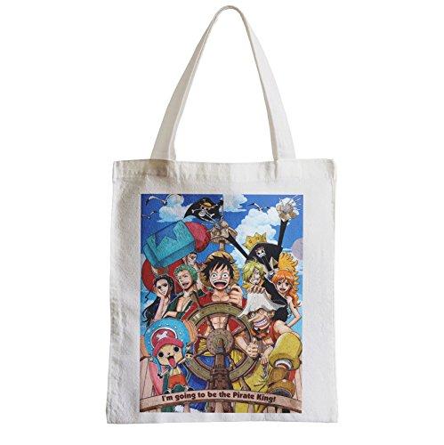 Große Tasche Sack Einkaufsbummel Strand Schüler one piece Ich möchte der König der Piraten zu sein