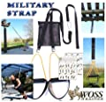 WOSS Military Strap Trainer Black, with Built-In Door Anchor, Made in USA Suspension Fitness by WOSS Enterprises