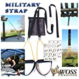 WOSS Military Strap Trainer Black, with Built-In Door Anchor, Made in USA Suspension System