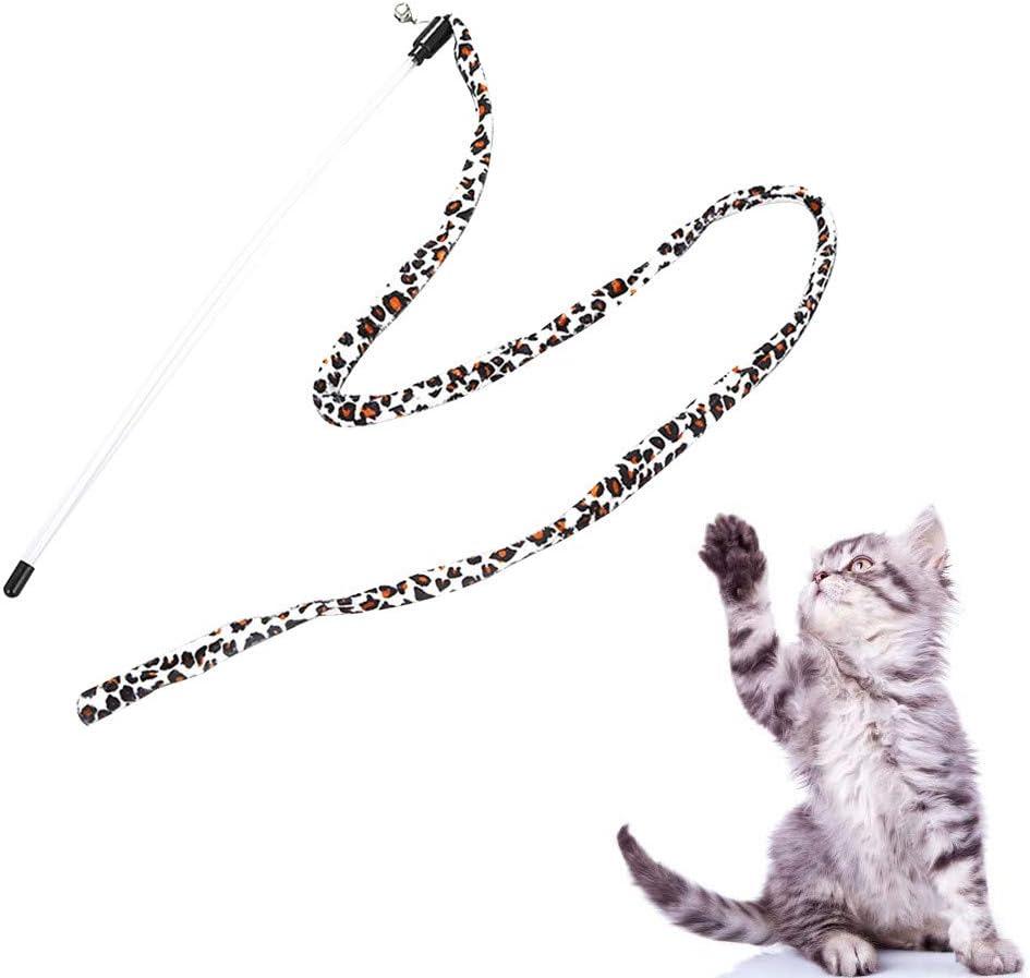 Angelof Accesorios para Animales de compañía bambú caña de Pesca Gato Juguete Cazador Stick Leopardo Color Interactive Jugar: Amazon.es: Productos para mascotas