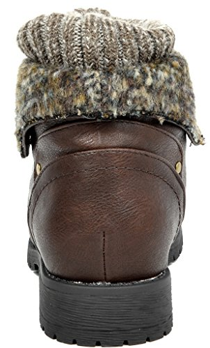 Droom Paren Dames Nieuwe Winter Lace-up Laarzen Slipper Laarzen Treker-bruin