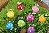 Miniature Mushrooms,Govine 80pcs Fairy Garden Miniature Ornaments, 8 Colors