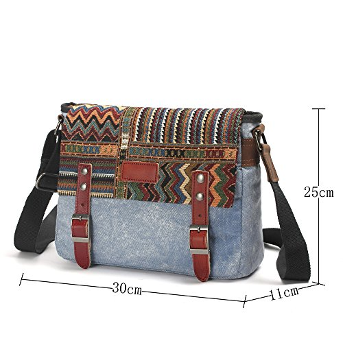 Multi 6007 Girl's Bag Eu Hobos Handbag Shoulder Messenger Striped Women Bag Nameblue Tote Canvas Color coffee xFBqBC