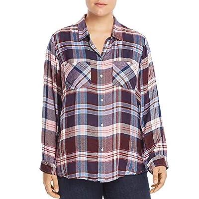 Lucky Brand Women's Plus Size Button Up Plaid Shirt