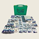 LARGE 210 PIECE PREMIER QUALICARE BSI BS8599 COMPLIANT PROFESSIONAL WORKPLACE ESSENTIAL FIRST AID KIT GREEN TRANSPARENT by Qualicare