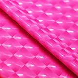 Kaleidoscope Hologram Stretch Vinyl Fabric Spandex Lycra Polyester Clothing Apparel Cosplay Swimwear Lingerie Leggings 4-way Stretch Sold By the Yard (Hot Pink)